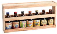 Demi-mètre Fabio XXL bois de pin naturel 7 bières 50cl/8 bières 33cl
