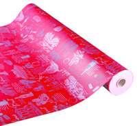 Papier cadeau Cépage kraft couché rouge/argent 73gr 0.50x200m