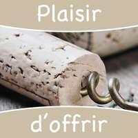 Etiquette adhésive carrée taupe - Plaisir d'offrir (boîte de 500)