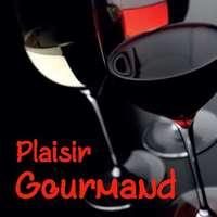 Etiquette adhésive carrée quadri/noir - Plaisir Gourmand (boîte de 500)