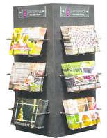 Présentoir Brillant Lounge M noir pour 120 cartes 15x15x33cm