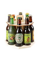 Carrousel à bière Renzo bois naturel 8 bières 33cl (type long neck)