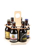 Carrousel à bière Ezio bois naturel 6 bières 33/50cl (type Steinie)