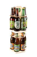 Carrousel à bière Delio bois naturel 12 bières 33cl (type long neck)
