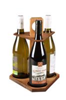 Carrousel Ottavio bois teinté cannelle 3 bouteilles 75cl
