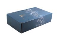 Coffret Alaska carton bleu/or/argent/blanc 2 bouteilles