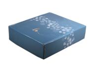 Coffret Alaska carton bleu/or/argent/blanc 3 bouteilles
