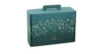 Valisette gourmande Alaska carton bleu/or/argent/blanc 34.5x25.5x11.5cm