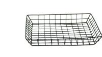 Corbeille Julia métal noir carrée 33x33x4cm