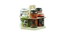Carrousel à bière Sandro bois naturel 6 bières 33/44cl (type canette)