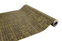 Papier cadeau Bouquet kraft couché noir/or 70gr 0.50x200m