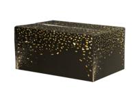 Caisse gourmande Petra carton noir/or 33x22x15
