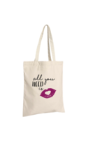 Sac tote bag Chelsea toile coton écru - All you need is love