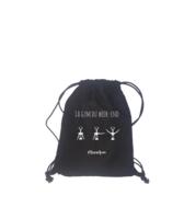 Sac à dos backbag Auckland toile coton noir -  La gym du week-end