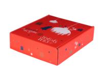 Coffret Sofia carton décoré rouge festif 3 bouteilles