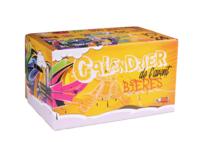 Caisse Calendrier de l'avent Biery carton décoré Street Art 24 bières 33/50cl