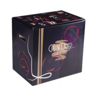 Caisse Calendrier de l'avent Santino carton décoré noir/or 12 bouteilles 75cl