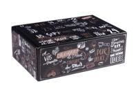 Caisse Calendrier de l'avent Gusto carton décor 24 cases 47x32x16cm