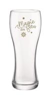 Verre à bière Randy 40cl décoré Or - Sofia / Magie des Fêtes