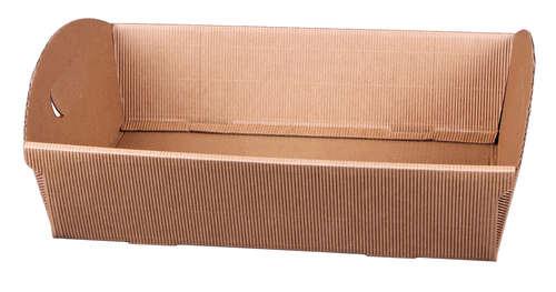 Image du produit Corbeille Rome carton kraft cannelure 33.5x25x8cm