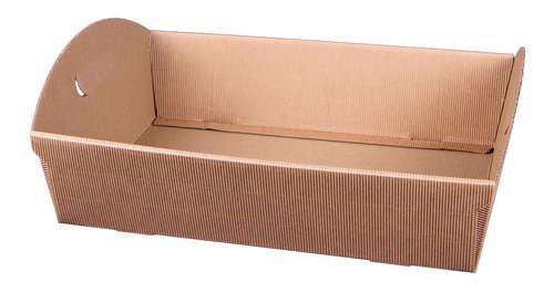Image du produit Corbeille Rome carton kraft cannelure 39x30x9.5cm