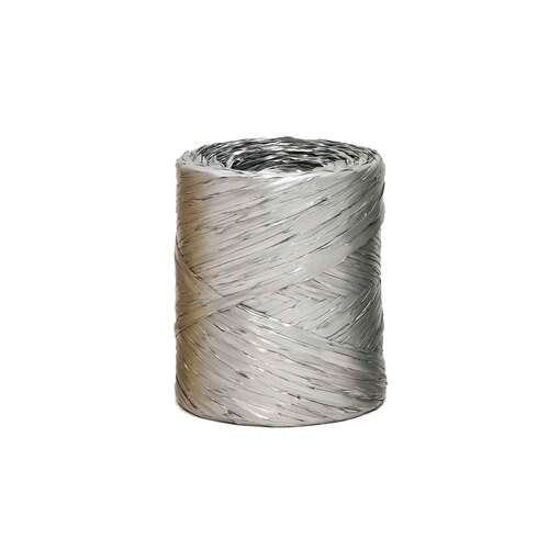 Image du produit Ruban Raphia Basic synthétique argent (bobine 200m)