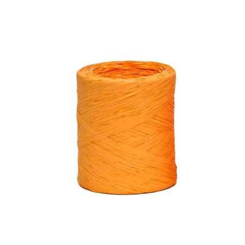 Image du produit Ruban Raphia Basic synthétique orange (bobine 200m)