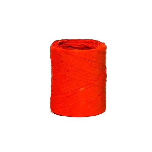 Image du produit Ruban Raphia Basic synthétique rouge (bobine 200m)