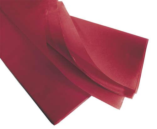 Image du produit Papier mousseline bordeaux 75x50cm (480 feuilles)