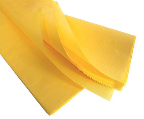 Image du produit Papier mousseline jaune 75x50cm (480 feuilles)