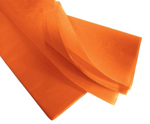 Image du produit Papier mousseline orange 75x50cm (480 feuilles)
