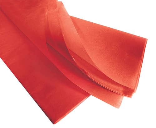 Image du produit Papier mousseline rouge 75x50cm (480 feuilles)