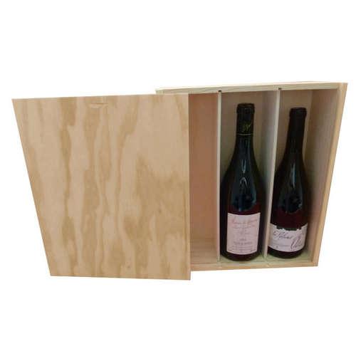 Image du produit Caisse Tradition bois de pin naturel 3 bouteilles