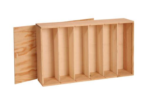 Image du produit Caisse Tradition bois de pin naturel 6 bouteilles (1x6)
