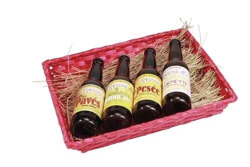 Image du produit Corbeille Rihana bambou framboise rectangle 31x21x7cm