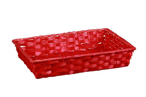 Image du produit Corbeille Rihana bambou framboise rectangle 36x26.5x7.5cm