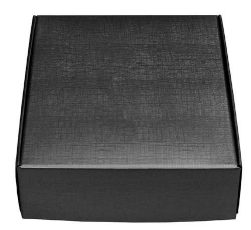 Image du produit Coffret Milan carton aspect tissu noir 3 bouteilles