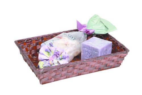 Image du produit Corbeille Rihana bambou chocolat rectangle 24x18x5cm