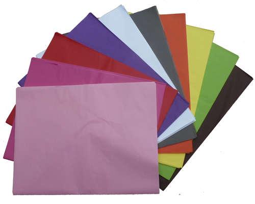 Image du produit Papier mousseline 10 couleurs assorties 75x50cm (480 feuilles)