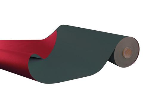 Image du produit Papier cadeau Offset Duo anthracite/rouge 70g 0.70x100m