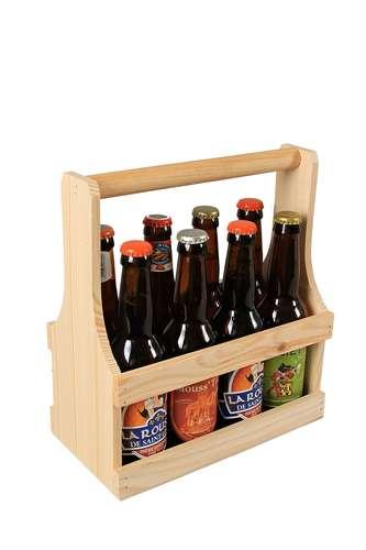 Image du produit Panier Nino bois de sapin naturel 8 bières 33cl (type long neck)