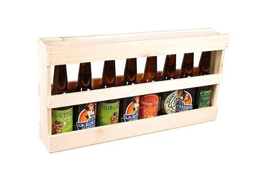 Image du produit Demi-mètre Silvio bois de sapin naturel 8 bières 33cl (type long neck)