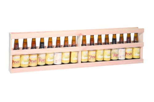 Image du produit Mètre Antonio bois de sapin naturel 16 bières 33cl (type long neck)