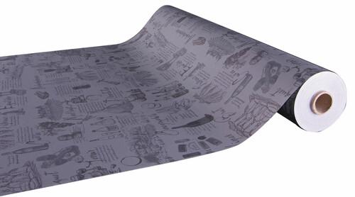 Image du produit Papier cadeau Cépage kraft couché gris/taupe 73gr 0.70x100m