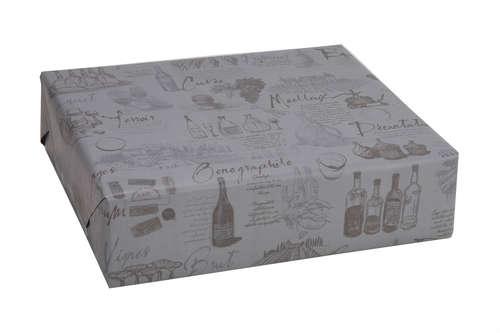 Image du produit Papier cadeau Cépage kraft couché gris/taupe 73gr 0.50x200m