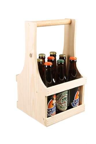Image du produit Panier Marcello bois de sapin 4  bouteilles 75cl / 9 bières 33cl(type long neck)