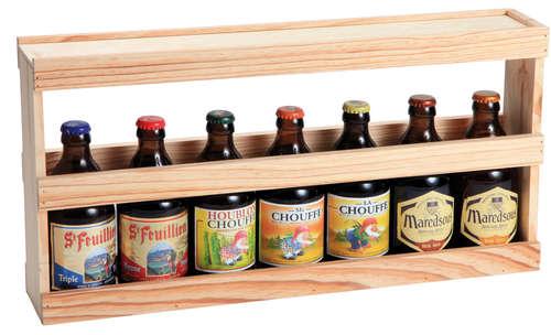 Image du produit Demi-mètre Fabio XXL bois de pin naturel 7 bières 50cl/8 bières 33cl