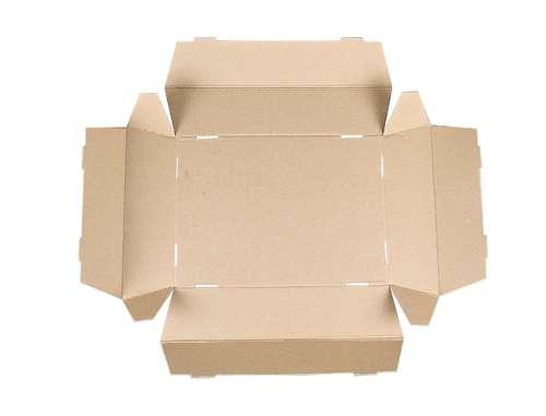 Image du produit Corbeille Lorriane carton imitation bois grisé rectangle 34x21x8cm