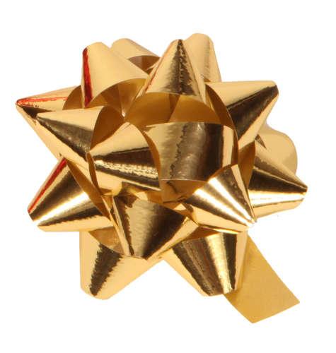 Image du produit Noeud adhésif brillant or forme étoile (diamètre 50mm)