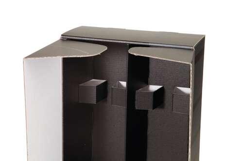 Image du produit Coffret Dallas carton noir/gris 2 bouteilles